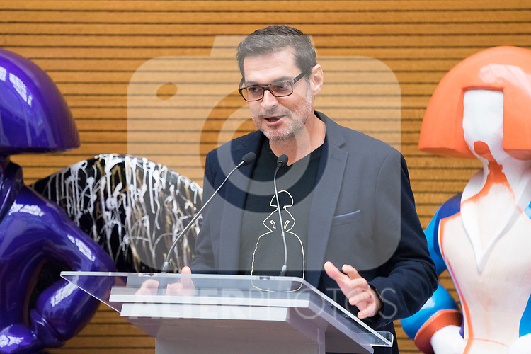 Artist Antonio Azzato during the presentation of 'Meninas Madrid Gallery' at Madrid town hall. October 01, 2019. (ALTERPHOTOS/Francis Gonzalez)
