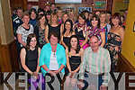 Louise Devaney, Marion Terrace, Ki9llarney, seated second from right, pictured with her parents Noreen and Tom, sisters Caroline and Elizabeth, family and friends as she celebrated her 30th birthday in O'Riains Bar, Killarney on Sunday night.......