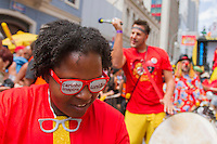 CURITIBA, PR,17.01.2016 – CARNAVAL-PR –  O bloco curitibano Garibaldis e Sacis e os cariocas do Monobloco abrem o pré-Carnaval de Curitiba na tarde deste domingo (17), na Rua Marechal Deodoro, no Centro de Curitiba (PR). Proposto pela Fundação Cultural de Curitiba, o evento é realizado desde 2013, transformando a data em uma comemoração multicultural, e segue até o dia 8 de fevereiro. (Foto: Paulo Lisboa/Brazil Photo Press)