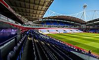 General ground View of the Macron Stadium <br /> <br /> Photographer Rachel Holborn/CameraSport<br /> <br /> The EFL Sky Bet Championship - Bolton Wanderers v Nottingham Forest - Sunday 6th May 2018 - Macron Stadium - Bolton<br /> <br /> World Copyright &copy; 2018 CameraSport. All rights reserved. 43 Linden Ave. Countesthorpe. Leicester. England. LE8 5PG - Tel: +44 (0) 116 277 4147 - admin@camerasport.com - www.camerasport.com
