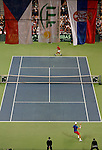 Tenis, Davis Cup 2010.Serbia Vs. Czech Republic, semifinals.Novak Djokovic Vs. Tomas Berdych.General view.Beograd, 19.09.2010..foto: Srdjan Stevanovic/Starsportphoto ©