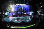 WEST PALM BEACH, FL - JULY 24: Jim Root, Chris Fehn, Alessandro Venturella, Corey Taylor and Mick Thomson of Slipknot perform at The Coral Sky Amphitheater on July 24, 2015 in West Palm Beach Florida. Credit Larry Marano © 2015