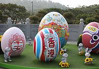 Easter eggs Ngong Ping 360 style on Lantau Island, Hong Kong on 6.4.19.