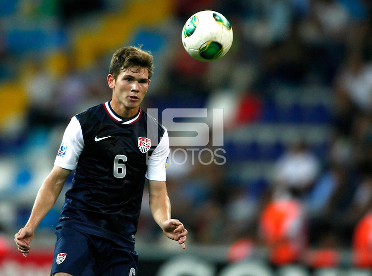 USA's William Trapp during their FIFA U-20 World Cup Turkey 2013 Group Stage Group A soccer match Ghana betwen USA at the Kadir Has stadium in Kayseri on June 27, 2013. PPhoto by Aykut AKICI/isiphotos.com