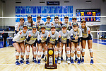 PENSACOLA, FL - DECEMBER 09: Concordia University, St. Paul players pose for a photograph with the national championship trophy during the Division II Women's Volleyball Championship held at UWF Field House on December 9, 2017 in Pensacola, Florida. (Photo by Timothy Nwachukwu/NCAA Photos via Getty Images)