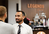 Leon Britton speaks to supporters in the Legends Lounge prior to the Sky Bet Championship match between Swansea City and Bristol City at the Liberty Stadium, Swansea, Wales, UK. Saturday 25 August 2018
