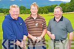 Enjoying the Captains Prize competition at the Castlerosse Golf Course on Sunday were John Daly, Pat Sheehan and Pat O'Donoghue.......
