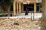 Earthquake in Lorca, Murcia, Spain, with nine mortal victims. Buildings and residents was affected by the earthquake, many of them are forced to flee their homes because of the danger of collapse and fears of aftershocks..Terremoto en Lorca, Murcia, España, provoco nueve victimas mortales. Edificios y vecinos resultan afectados por el seismo, muchos de ellos se ven obligados a abandonar sus viviendas por el peligro de derrumbe y el temor a las replicas. Photo by Jose L. Cuesta