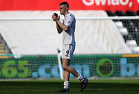 SWANSEA, WALES - MARCH 25: Oli McBurnie of Swansea City applauds the fans after the final whistle of the Premier League International Cup Semi Final match between Swansea City and Porto at The Liberty Stadium on March 25, 2017 in Swansea, Wales. (Photo by Athena Pictures)Athena Pictures)