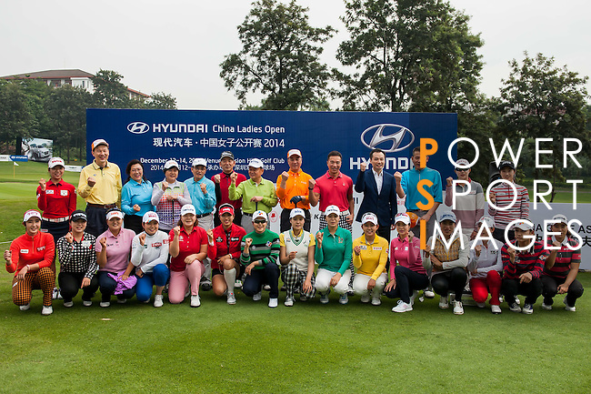 Guest attends the Open Ceremony ahead of the Hyundai China Ladies Open 2014 on December 10 2014, in Shenzhen, China. Photo by Xaume Olleros / Power Sport Images