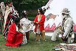 Native American Indian family trading moutainman tipi Lakota Sioux Indians united states trade business meet meeting greet mother mom mum ma child children kids male man female woman red coats Greifenhagen 468-2239 MR 387i 388u n 390i through 395u n 402i 4303u