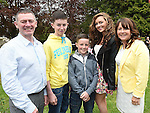 Órán Connor who was confirmed at The Church of the Immaculate Conception Termonfeckin pictured with parents Raymond and Pauline, brother Caelum and sister Sarah Lynn. Photo:Colin Bell/pressphotos.ie