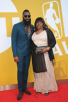 www.acepixs.com<br /> June 26, 2017  New York City<br /> <br /> James Harden and Monja Willis  attending the 2017 NBA Awards live on TNT on June 26, 2017 in New York City.<br /> <br /> Credit: Kristin Callahan/ACE Pictures<br /> <br /> <br /> Tel: 646 769 0430<br /> Email: info@acepixs.com