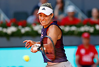 Angelique Kerber of Germany in action against Lesia Tsurenko of Ukraine during day three of the Mutua Madrid Open at La Caja Magica on May 05, 2019 in Madrid, Spain. /NortePhoto.com