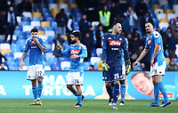 9th February 2020; Stadio San Paolo, Naples, Campania, Italy; Serie A Football, Napoli versus Lecce; Giovanni Di Lorenzo of Napoli looks dejected as Lecce score for 3-1 in the 82nd minute from Mancuso