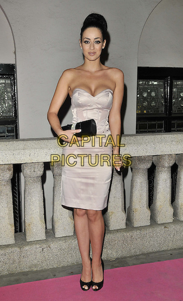 Maria Kouka .attended the Inspiration Awards For Women, Cadogan Hall, Sloane Terrace, London, England, UK, October 7th 2011..full length beige nude cream dress strapless cleavage black peep toe shoes clutch bag .CAP/CAN.©Can Nguyen/Capital Pictures.
