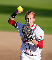 STANFORD, CA - APRIL 18, 2011: Stanford's softball team faces off against University of Washington at Boyd & Jill Smith Family Stadium in Stanford, CA on April 29, 2011.  Stanford lost, 7-1.