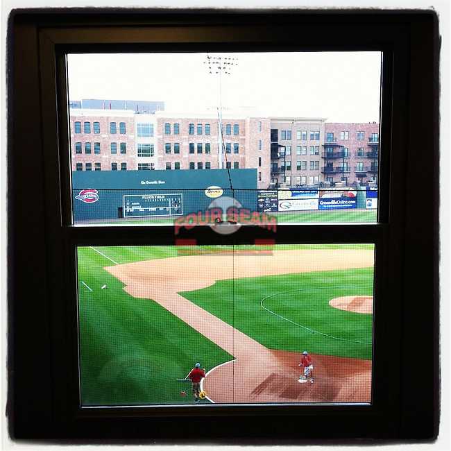 View from the press box. (Tom Priddy/Four Seam Images)