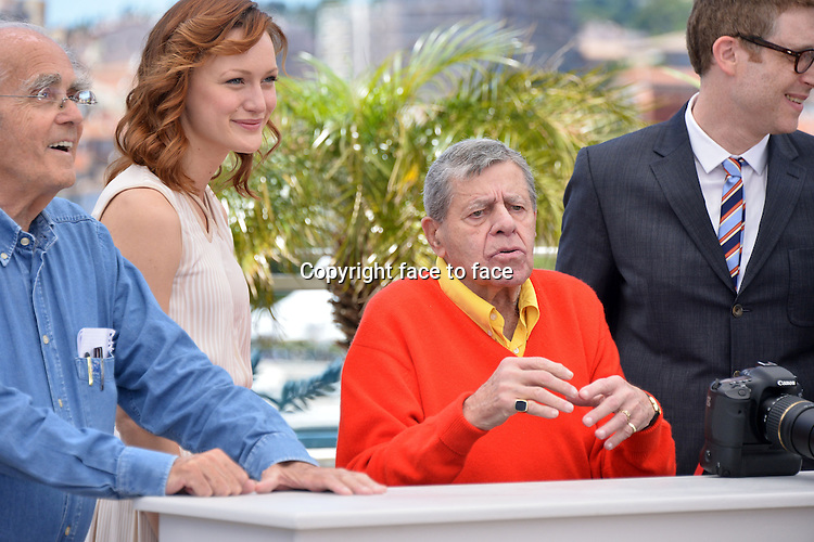 "........Credit: Timm/face to face..Jerry Lewis (Actor) attending the ""MAX ROSE"" Photocall during the 66th annual International Cannes Film Festival in Cannes, France, 23th May 2013."