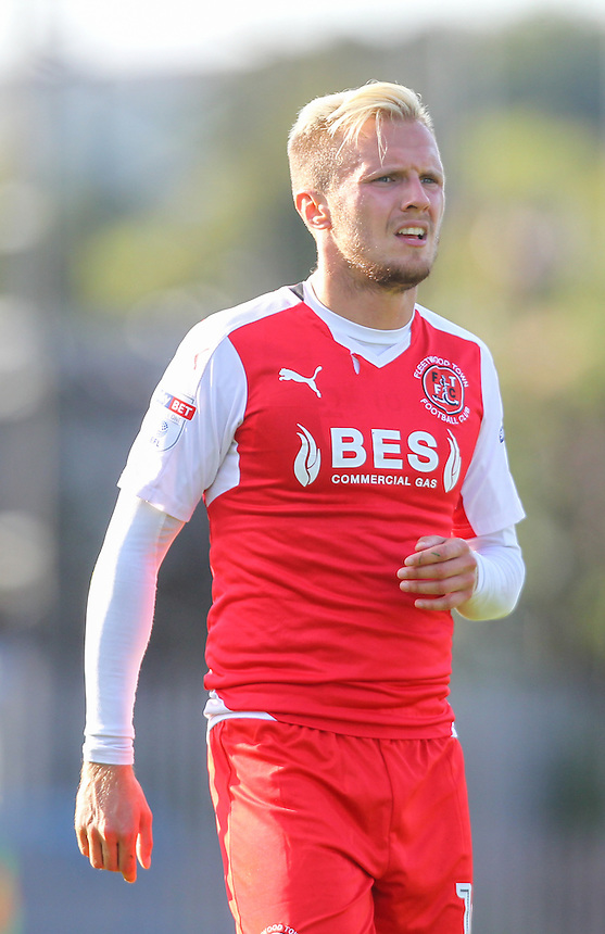 Fleetwood Town's David Ball in action<br /> <br /> Photographer Alex Dodd/CameraSport<br /> <br /> The EFL Sky Bet League One - Rochdale v Fleetwood Town - Saturday 17th September 2016 - Spotland - Rochdale<br /> <br /> World Copyright &copy; 2016 CameraSport. All rights reserved. 43 Linden Ave. Countesthorpe. Leicester. England. LE8 5PG - Tel: +44 (0) 116 277 4147 - admin@camerasport.com - www.camerasport.com
