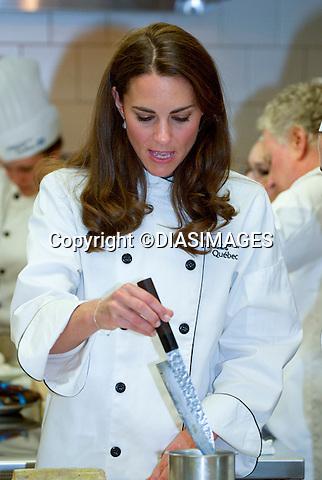 "PRINCE WILLIAM & KATE CANADA.don chefs uniform for a lesson in cooking at the Institut de tourisme et d'hotellerie, Montreal_02/07/2011.Mandatory Credit Photo: ©DIASIMAGES. .**ALL FEES PAYABLE TO: ""NEWSPIX INTERNATIONAL""**..No UK Usage until 03/08/2011.IMMEDIATE CONFIRMATION OF USAGE REQUIRED:.DiasImages, 31a Chinnery Hill, Bishop's Stortford, ENGLAND CM23 3PS.Tel:+441279 324672  ; Fax: +441279656877.Mobile:  07775681153.e-mail: info@newspixinternational.co.uk"