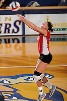 20 November 2008:  Western Kentucky setter Julia Noe (25) returns the ball during the WKU 3-0 victory over Denver in the first round of the Sun Belt Conference Championship tournament at FIU Stadium in Miami, Florida.