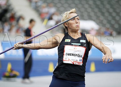02.09.2012. Berlin, Germany. Athletics Track and Field 71 ISTAF Berlin 2012 02 09 2012 Olympic Stadium Berlin Javelin Women Christina Obergfell Germany