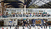 Tube Strike <br /> inside and outside Liverpool Street Station London, Great Britain <br /> 6th August 2015 <br /> Long queues of passengers at Liverpool Street Station who are waiting for buses <br /> Photograph by Elliott Franks <br /> Image licensed to Elliott Franks Photography Services