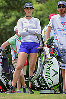 Michelle Wie (USA) waits for rest of the group to tee off on 18 during round 3 of  the Volunteers of America Texas Shootout Presented by JTBC, at the Las Colinas Country Club in Irving, Texas, USA. 4/29/2017.<br /> Picture: Golffile | Ken Murray<br /> <br /> <br /> All photo usage must carry mandatory copyright credit (&copy; Golffile | Ken Murray)