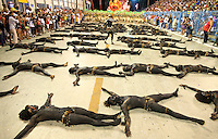 Choreography, Salgueiro samba school, Carnival 2010, Rio de Janeiro, Brazil - Samba Schools Parade in Sambodromo.