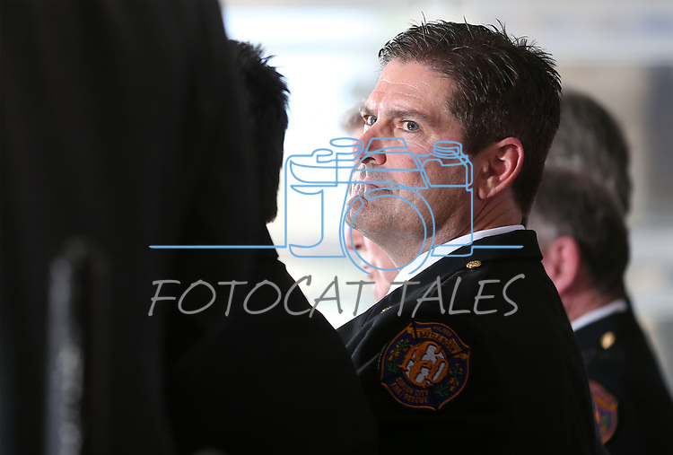 Images from the badge-pinning ceremony of Carson City Fire Chief Sean Slamon in Carson City, Nev., on Friday, March 31, 2017. <br /> Photo by Cathleen Allison/Nevada Photo Source