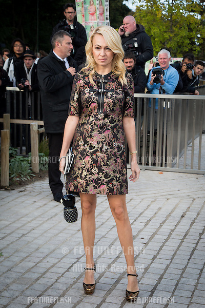 Yana Rudkovskaya attend Louis Vuitton Show Front Row - Paris Fashion Week  2016.<br /> October 7, 2015 Paris, France<br /> Picture: Kristina Afanasyeva / Featureflash