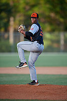 Brennan Malone during the WWBA World Championship at the Roger Dean Complex on October 19, 2018 in Jupiter, Florida.  Brennan Malone is a right handed pitcher from Matthews, North Carolina who attends IMG Academy and is committed to North Carolina.  (Mike Janes/Four Seam Images)
