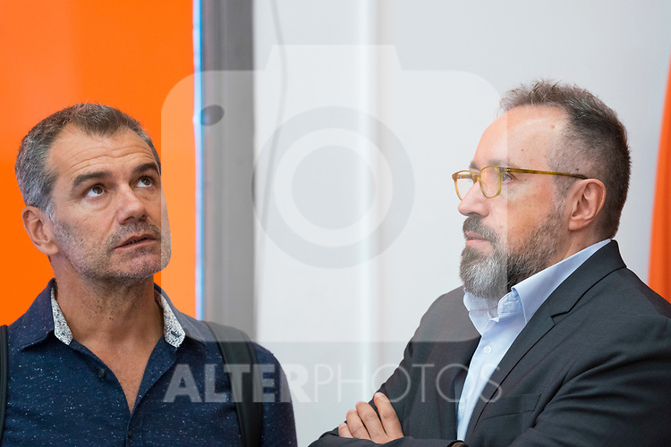 Toni Roldan (l) and Juan Carlos Girauta after Ciudadanos General Council. September 30, 2019. (ALTERPHOTOS/Francis Gonzalez)
