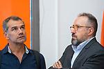 Toni Roldan (l) and Juan Carlos Girauta after Ciudadanos General Council. September 30, 2019. (ALTERPHOTOS/Francis Gonzalez)