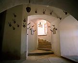 AUSTRIA, Bernstein, interior detail of the Burg Bernstein Castle and Hotel, Burgenland