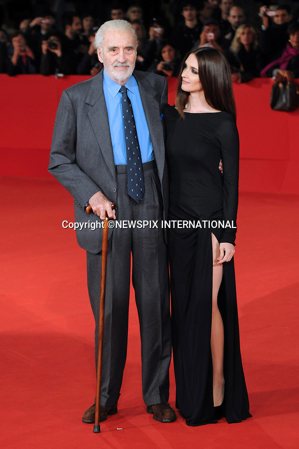"PAZ VEGA AND CHRISTOPHER LEE.'Triage' premiere, 4th International Rome Film Festival,  Auditorium Parco della Musica, Rome_15/10/2009.Mandatory Credit Photo: ©NEWSPIX INTERNATIONAL..**ALL FEES PAYABLE TO: ""NEWSPIX INTERNATIONAL""**..IMMEDIATE CONFIRMATION OF USAGE REQUIRED:.Newspix International, 31 Chinnery Hill, Bishop's Stortford, ENGLAND CM23 3PS.Tel:+441279 324672  ; Fax: +441279656877.Mobile:  07775681153.e-mail: info@newspixinternational.co.uk"