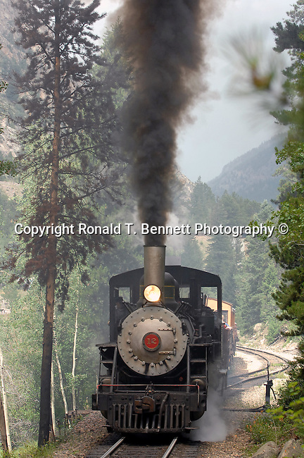 Train steam engine Georgetown loop railroad Georgetown Colorado, 1872 Colorado Central Railroad, transport millions of dollars of ore coming out of region, Clear Creek Canyon, Black Hawk,  gold mining era, silver, miners, Argentine Mining district, Georgetown Colorado, Train, Steam Engine,  Colorado, US State of Colorado, Rocky Mountain region, Fine Art Photography by Ron Bennett, Fine Art, Fine Art photography, Art Photography, Copyright RonBennettPhotography.com ©