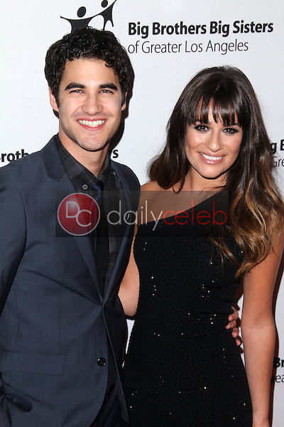 Darren Criss, Lea Michele<br /> at the Big Brothers Big Sisters of Greater Los Angeles 2012 Rising Stars Gala, Beverly Hilton, Beverly Hills, CA 10-26-12<br /> David Edwards/DailyCeleb.com 818-249-4998