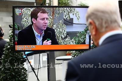 Genève, le 11.10.2009.Election cantonal à Uni Mail..Cyril Allen, libéral..© Le Courrier / J.-P. Di Silvestro