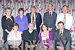 Winners of best school in the Killarney Tidy Towns awards in the Dromhall Hotel on Monday night front row l-r: Ella Stack Holy Cross, Fr Michael Murphy, Ursulla Coffey, Darcy. Back row: Una Fitzgerald, Juliet Kelly, Mayor Sean Counihan, John Breen and Michael Gleeson..