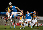 Lee McCulloch winning a header in the box