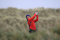 David Kitt (Athenry) on the 13th tee during Round 2 of the Ulster Boys Championship at Portrush Golf Club, Portrush, Co. Antrim on the Valley course on Wednesday 31st Oct 2018.<br /> Picture:  Thos Caffrey / www.golffile.ie<br /> <br /> All photo usage must carry mandatory copyright credit (&copy; Golffile | Thos Caffrey)
