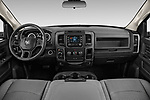 Stock photo of straight dashboard view of a 2019 Ram RAM-1500-Classic  Express 4 Door Pick Up