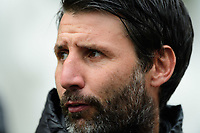 Lincoln City manager Danny Cowley during the pre-match warm-up<br /> <br /> Photographer Chris Vaughan/CameraSport<br /> <br /> Emirates FA Cup First Round - Lincoln City v Northampton Town - Saturday 10th November 2018 - Sincil Bank - Lincoln<br />  <br /> World Copyright &copy; 2018 CameraSport. All rights reserved. 43 Linden Ave. Countesthorpe. Leicester. England. LE8 5PG - Tel: +44 (0) 116 277 4147 - admin@camerasport.com - www.camerasport.com