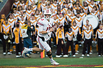 Wisconsin Badgers quarterback Alex Hornibrook (12) rolls out of the pocket during an NCAA College Big Ten Conference football game against the Minnesota Golden Gophers Saturday, November 25, 2017, in Minneapolis, Minnesota. The Badgers won 31-0. (Photo by David Stluka)