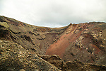 Volcano crater seen on Ruta de Los Volcanes, Parque Nacional de Timanfaya, national park, Lanzarote, Canary Islands,