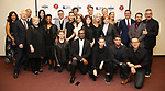"Dennis Shepard, Judy Shepard, Danny Burstein, Mary Louise Parker, Samira Wiley, Andrew Keenan-Bolger, Michael Emerson, Adam Rippon, Billy Porter, Andy Paris, Purva Bedi, Asia Kate Dillon, Jimmy Maize, Moises Kaufman and cast attends the cast photo call for ""Laramie: A Legacy""  on September 24, 2018 at The Gerald W. Lynch Theater at John Jay College in New York City."