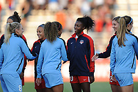 Boyds, MD -Saturday August 26, 2017: Arielle Ship, Cheyna Williams, Casey Short, Mallory Pugh, Julie Ertz during a regular season National Women's Soccer League (NWSL) match between the Washington Spirit and the Chicago Red Stars at Maureen Hendricks Field, Maryland SoccerPlex.