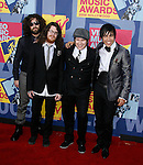 LOS ANGELES, CA. - September 07: Musicians Fall Out Boy arrive at the 2008 MTV Video Music Awards at Paramount Pictures Studios on September 7, 2008 in Los Angeles, California.